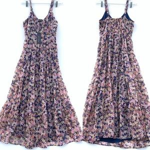 Rachel Zoe floral tiered sleeveless maxi dress